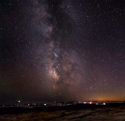 The Milky Way from Cadillac Mountain in Acadia National Park, Maine.