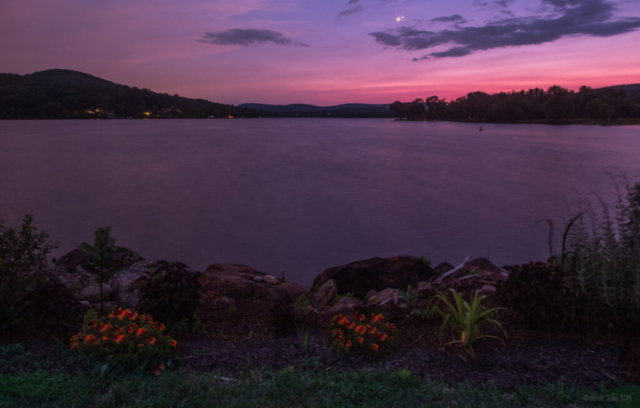 Venus and Jupiter at Lake Waramaug in CT.