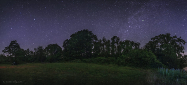 The Northern Sky with Big dipper and Milky Way at Weathersfield Estate in Amenia New York.