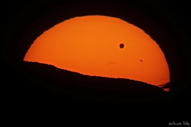 Venus Solar Transit.... The planet Venus in Silhouette photographed as it passes between Earth and the Sun