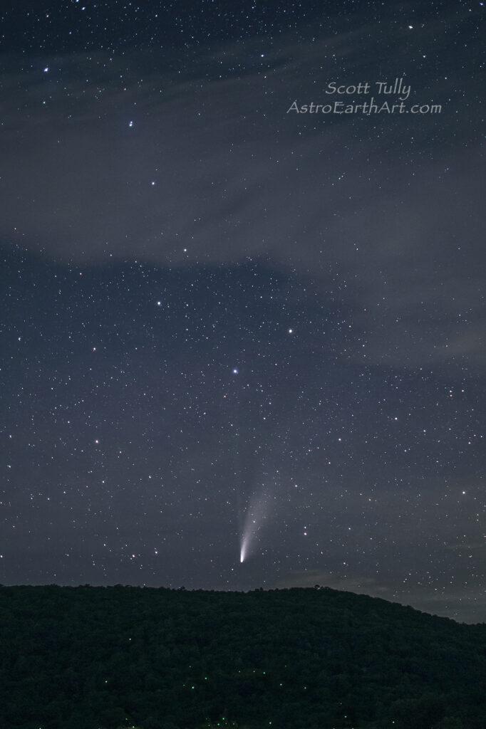 Comet Neowise, Firflies and the Big Dipper or Plough for you Europeans.....